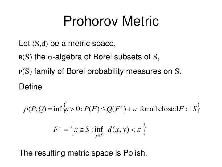 Prohorov Metric