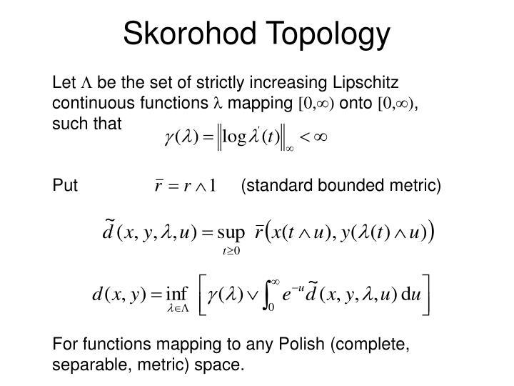 Skorohod Topology
