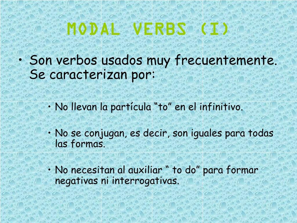 MODAL VERBS (I)