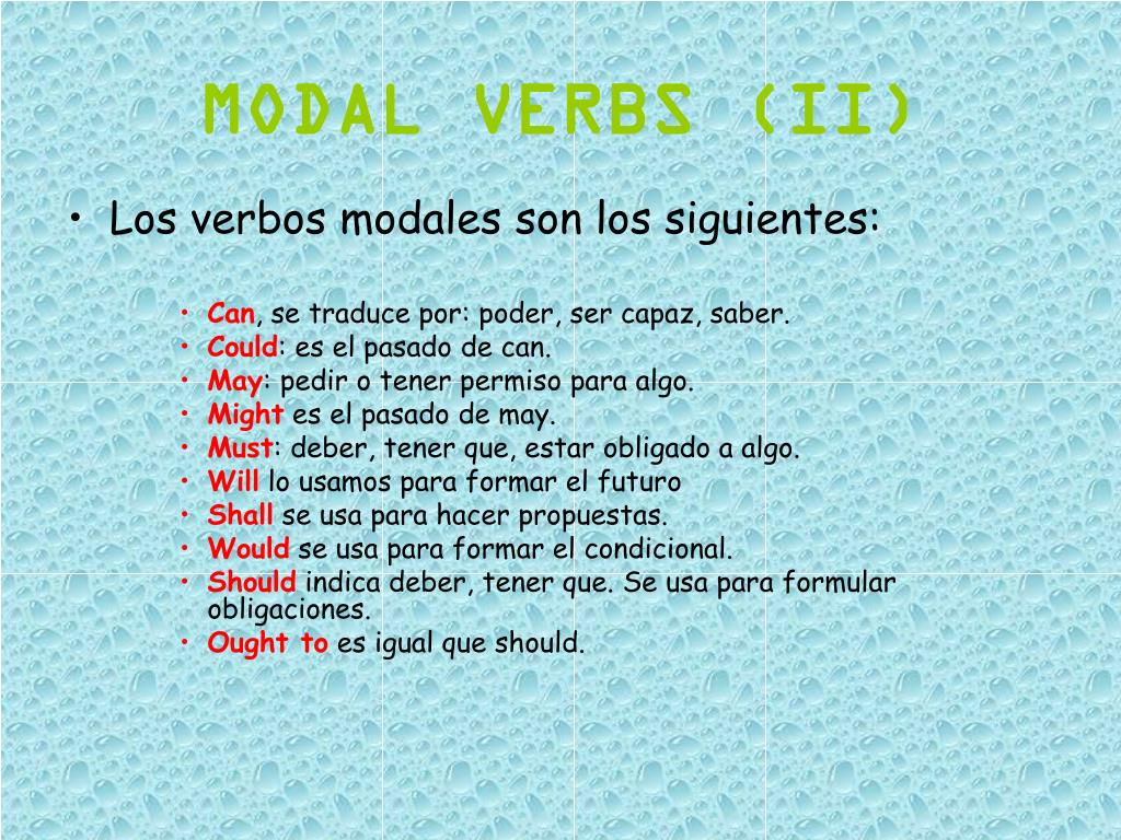 MODAL VERBS (II)