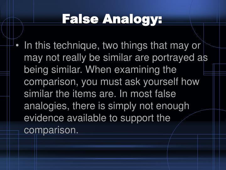 False Analogy: