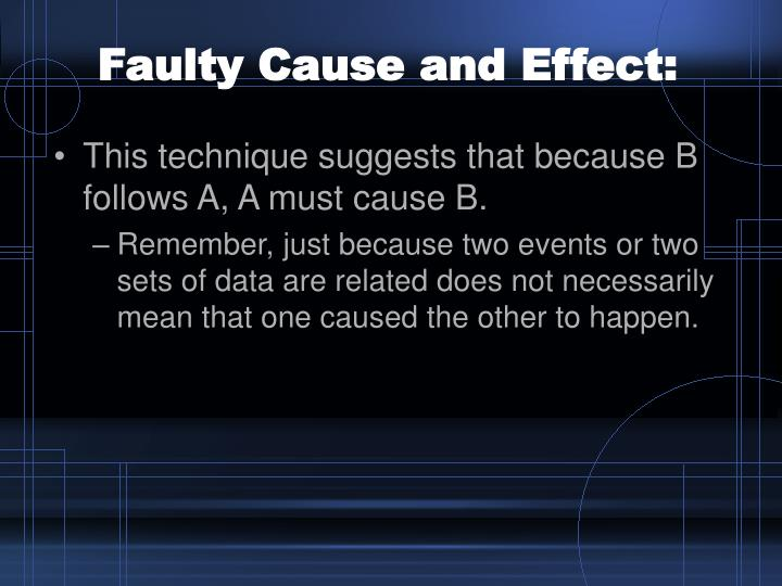 Faulty Cause and Effect: