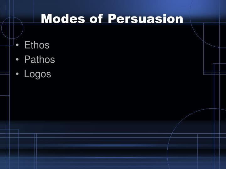 Modes of Persuasion