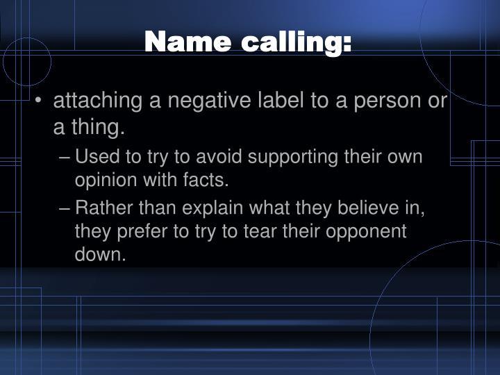 Name calling: