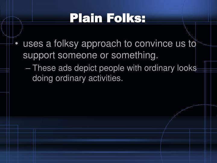 Plain Folks: