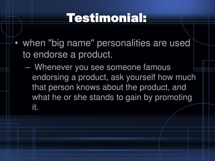 Testimonial: