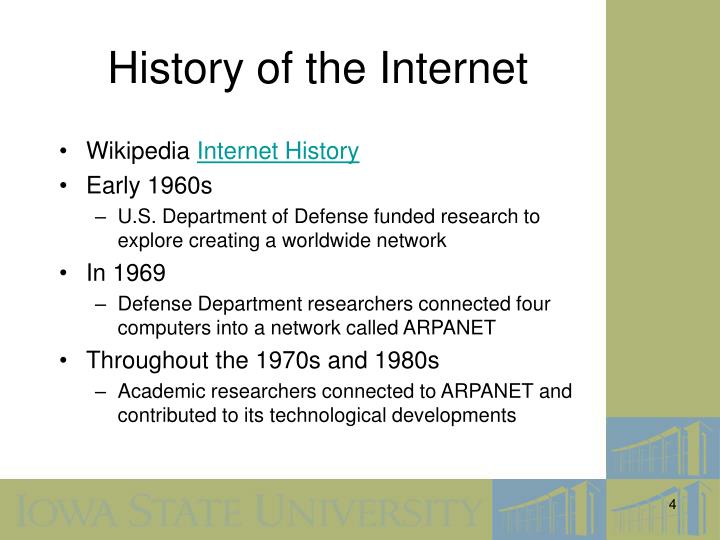 the history and technological developments of the internet A history of internet technology of the internet created in the rest of human history combined the internet has become so central to.