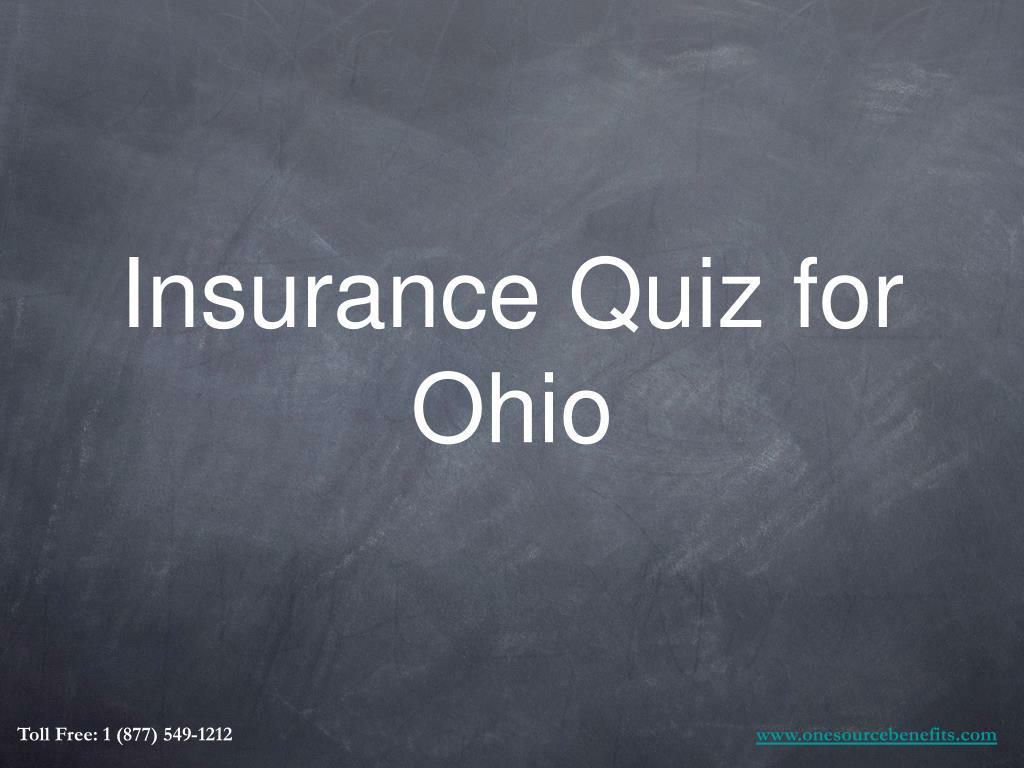 Insurance Quiz for Ohio