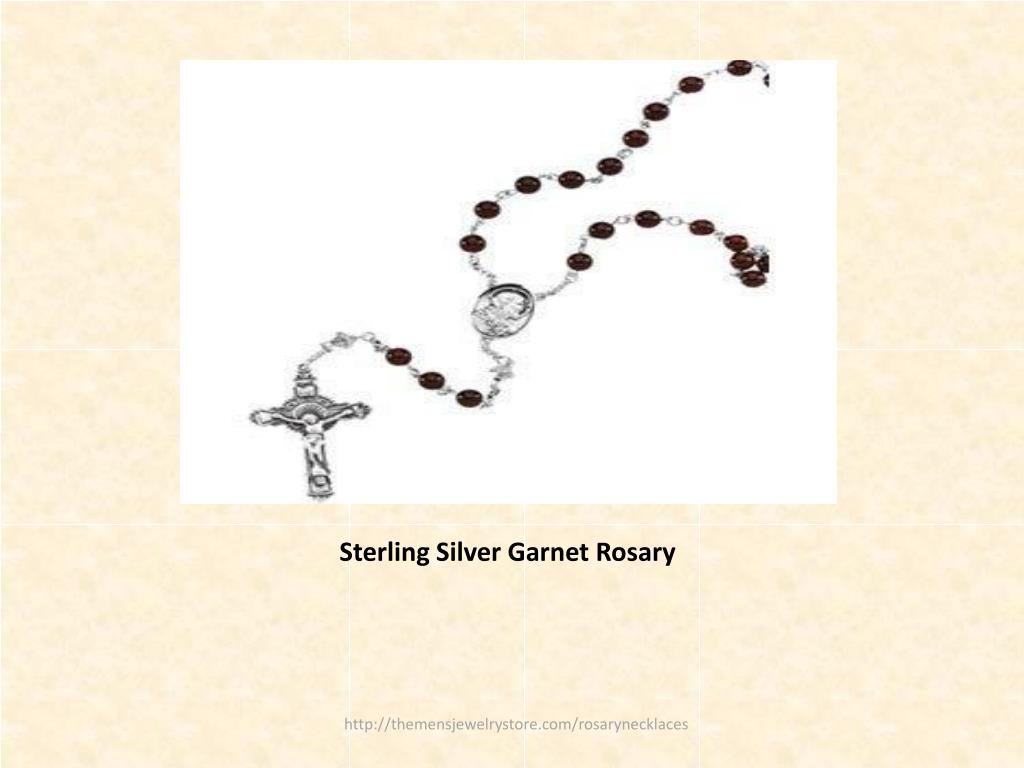 Sterling Silver Garnet Rosary