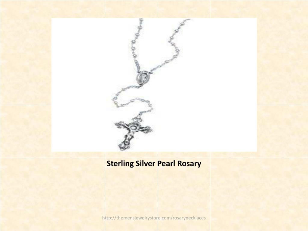 Sterling Silver Pearl Rosary
