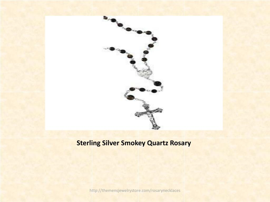 Sterling Silver Smokey Quartz Rosary