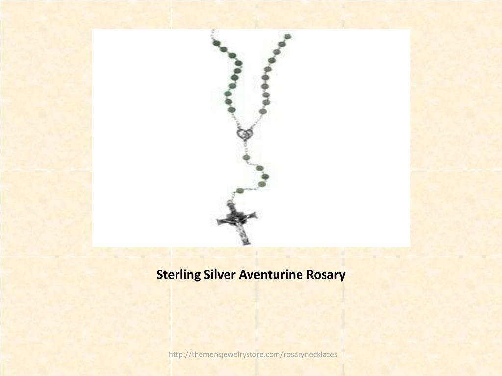 Sterling Silver Aventurine Rosary