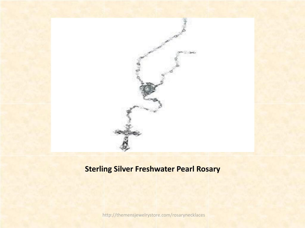 Sterling Silver Freshwater Pearl Rosary