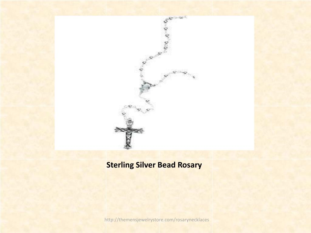 Sterling Silver Bead Rosary