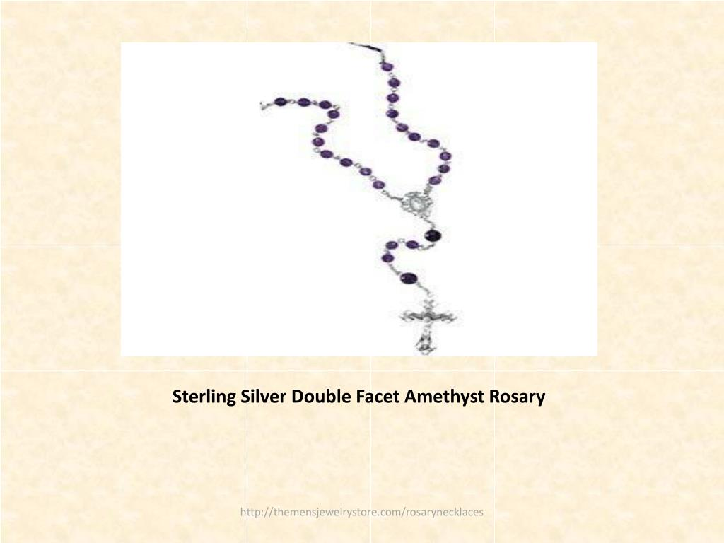 Sterling Silver Double Facet Amethyst Rosary