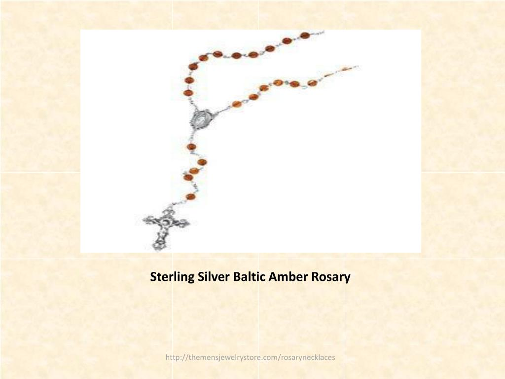 Sterling Silver Baltic Amber Rosary