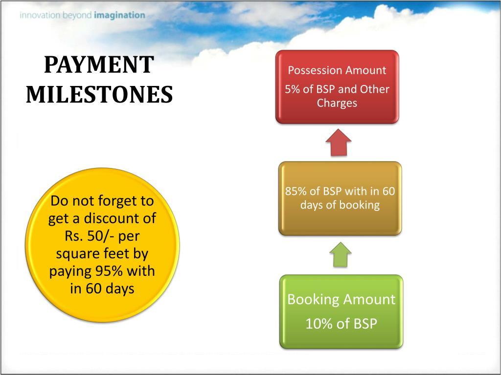 PAYMENT MILESTONES
