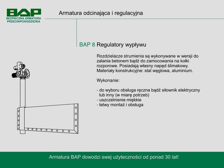 Armatura odcinająca i regulacyjna