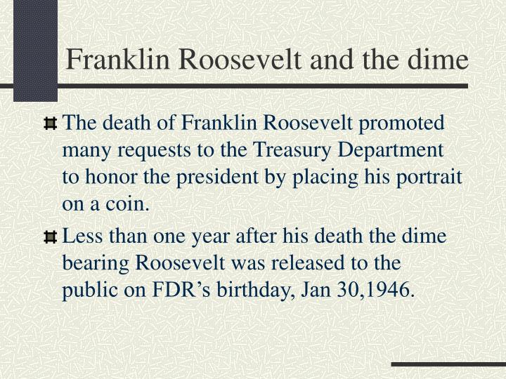 Franklin Roosevelt and the dime