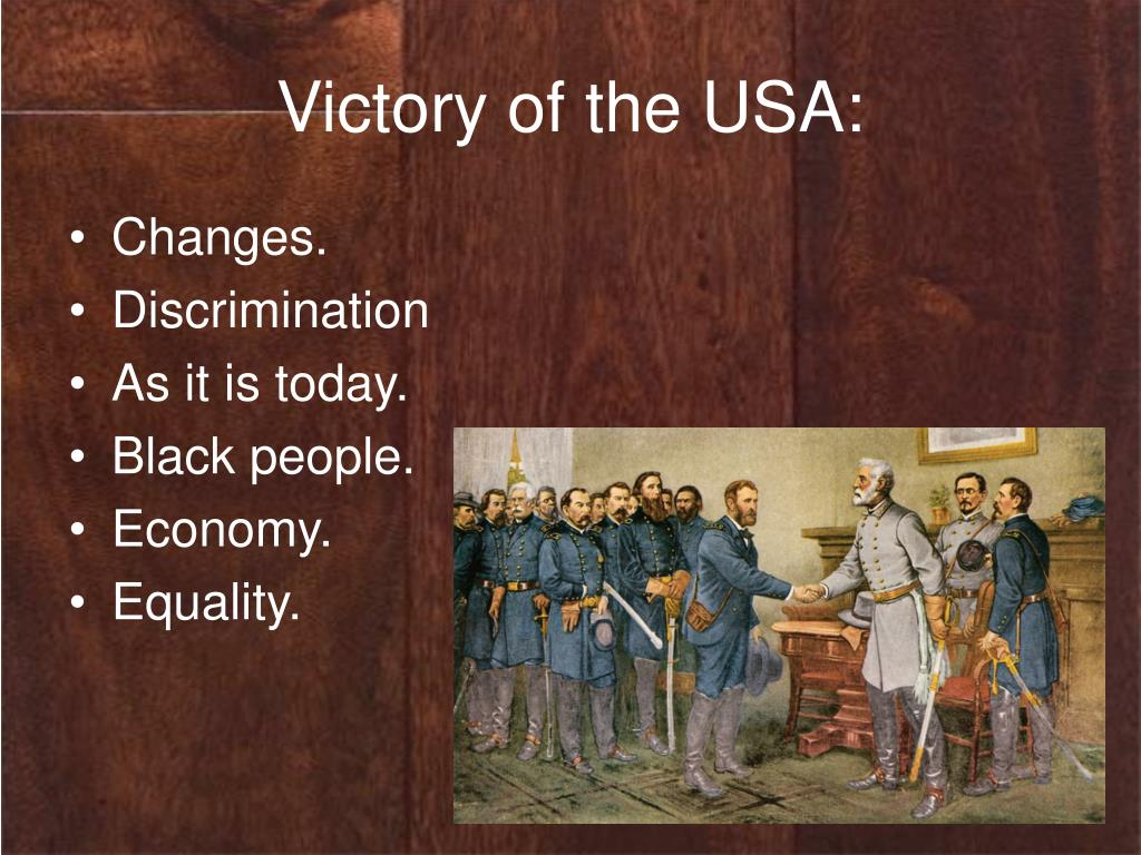 Victory of the USA: