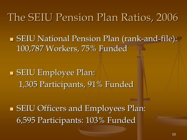 The SEIU Pension Plan Ratios, 2006