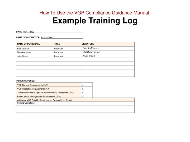 Ppt Vessel General Permit Compliance Guidance Manual