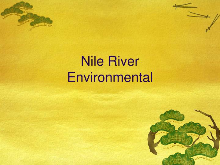 Nile river environmental