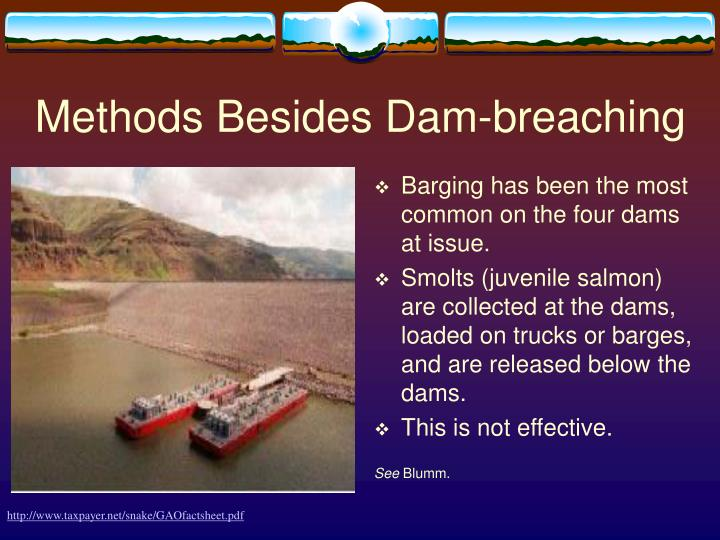 Methods Besides Dam-breaching