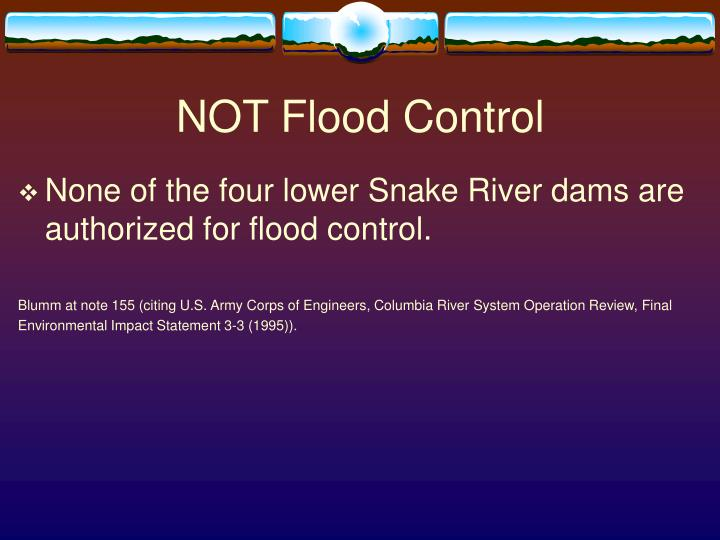 NOT Flood Control