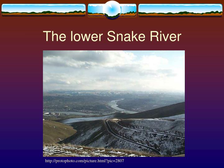 The lower Snake River