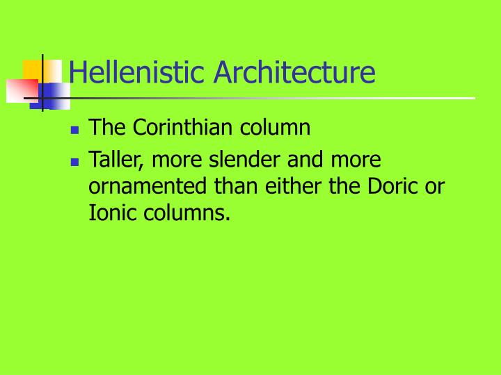 Hellenistic Architecture