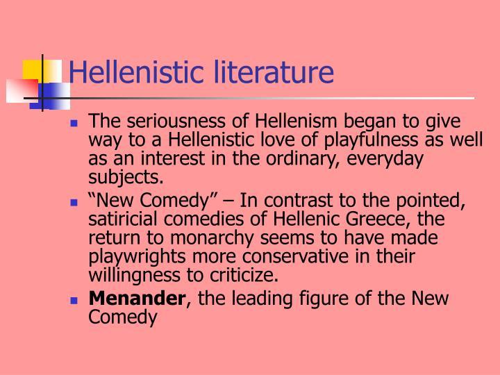 Hellenistic literature