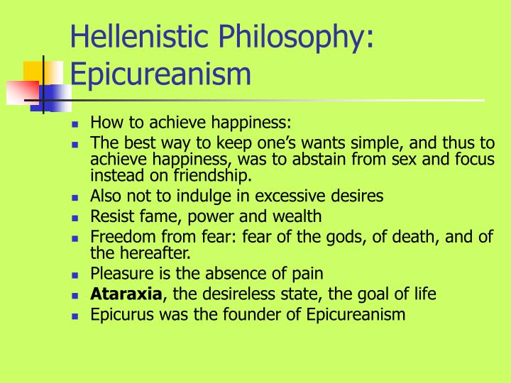 Hellenistic Philosophy: Epicureanism
