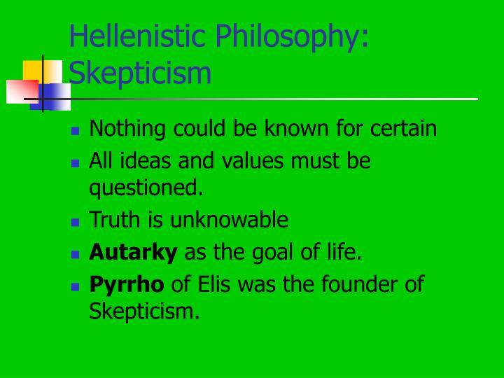 Hellenistic Philosophy: Skepticism