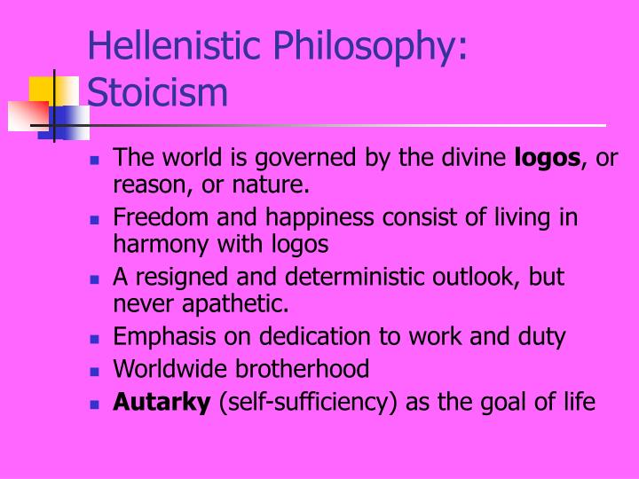 Hellenistic Philosophy: Stoicism