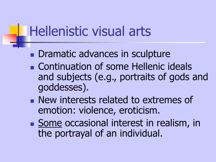 Hellenistic visual arts