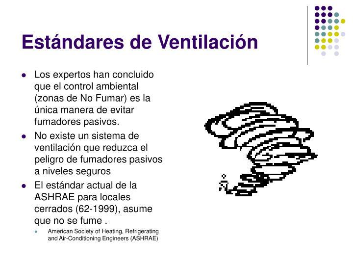 Estándares de Ventilación