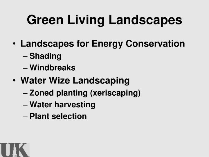 Green Living Landscapes
