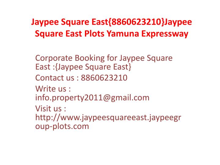 Jaypee square east 8860623210 jaypee square east plots yamuna expressway3