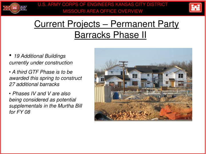 Current Projects – Permanent Party Barracks Phase II