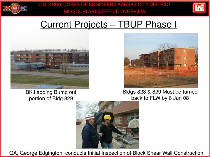 Current Projects – TBUP Phase I