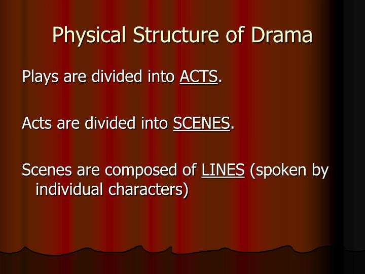 Physical Structure of Drama