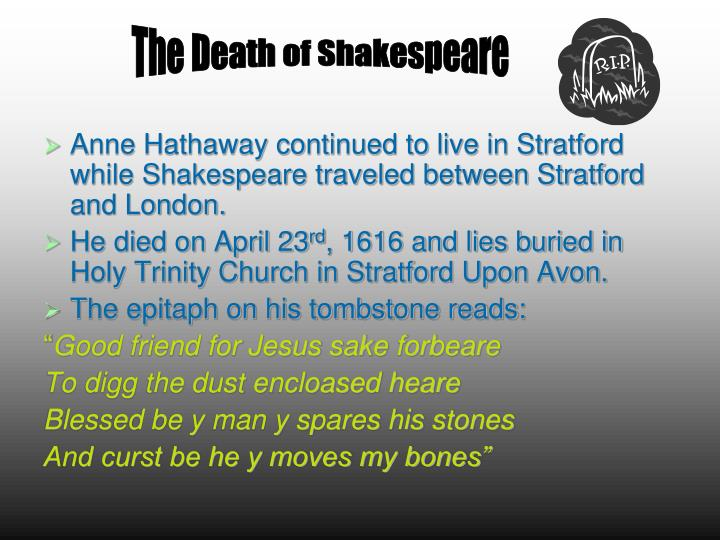 The Death of Shakespeare