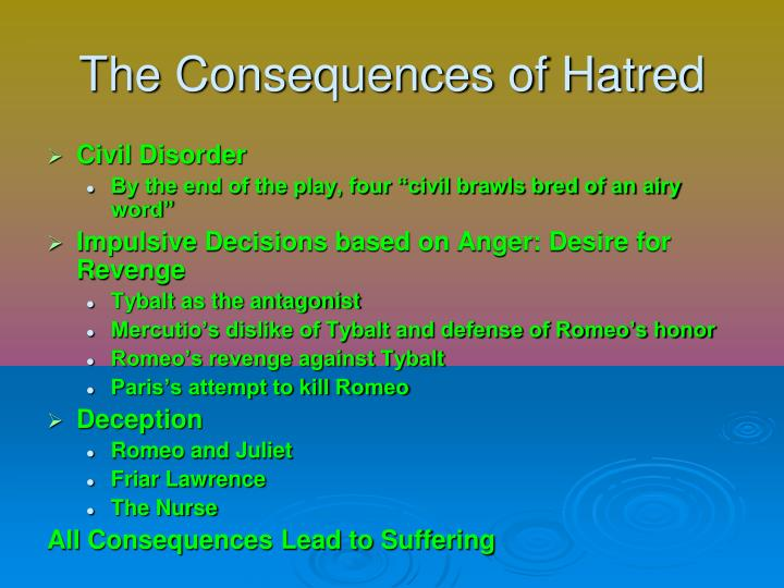 The Consequences of Hatred