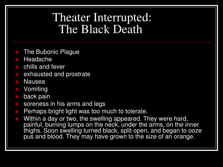 Theater Interrupted: