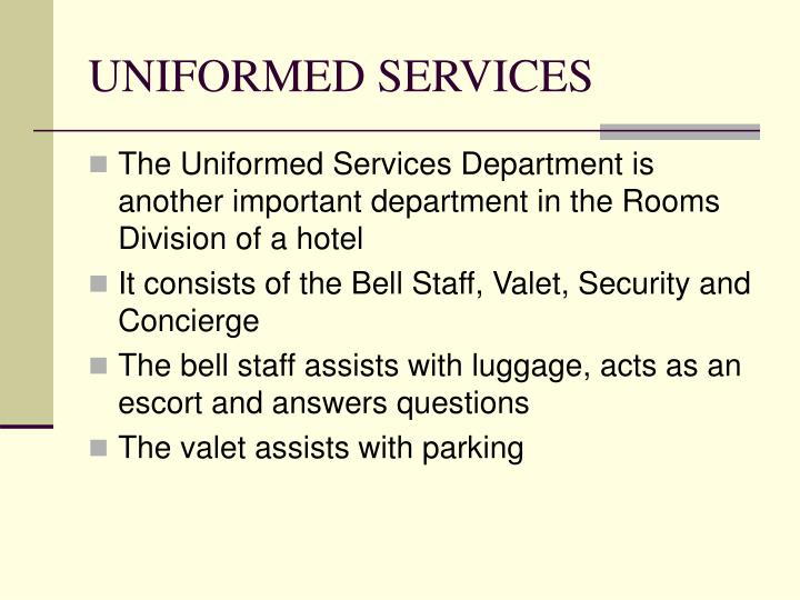 UNIFORMED SERVICES