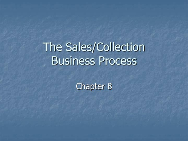 The sales collection business process