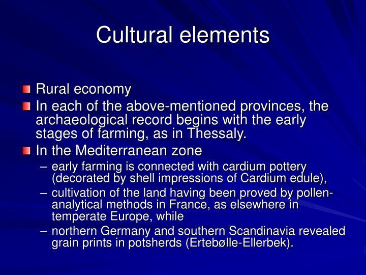 Cultural elements