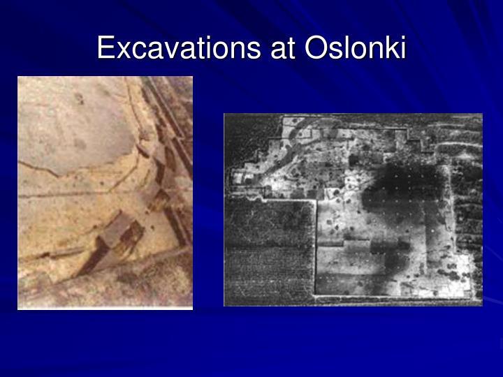 Excavations at Oslonki