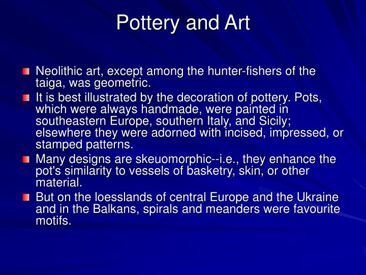 Pottery and Art